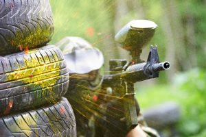 Paintballing on your log cabin holiday