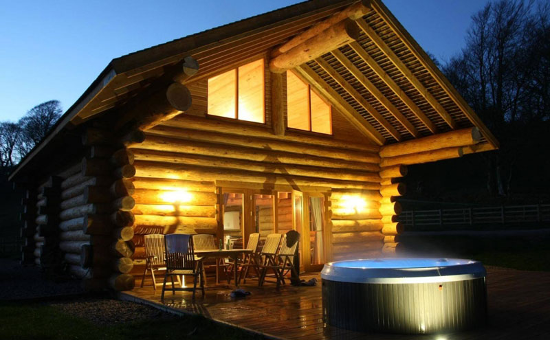 Image Gallery Log Cabin Hot Tub