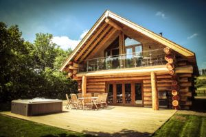 Log cabins with hot tubs in Cumbria