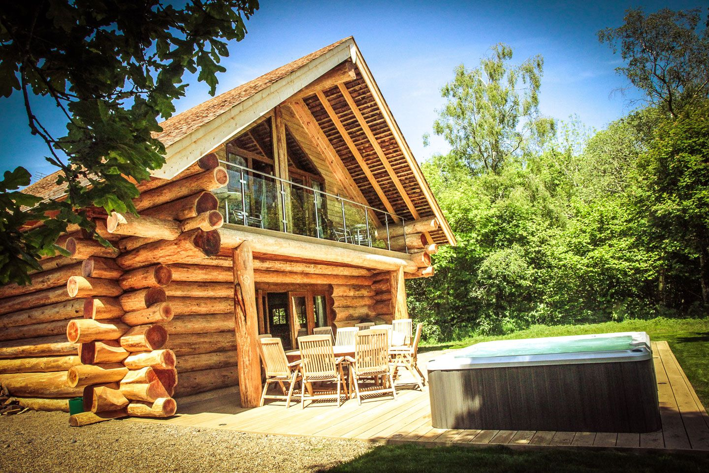 Private Log Cabins With Hot Tubs Hidden River Cabins Only 25 Deposit